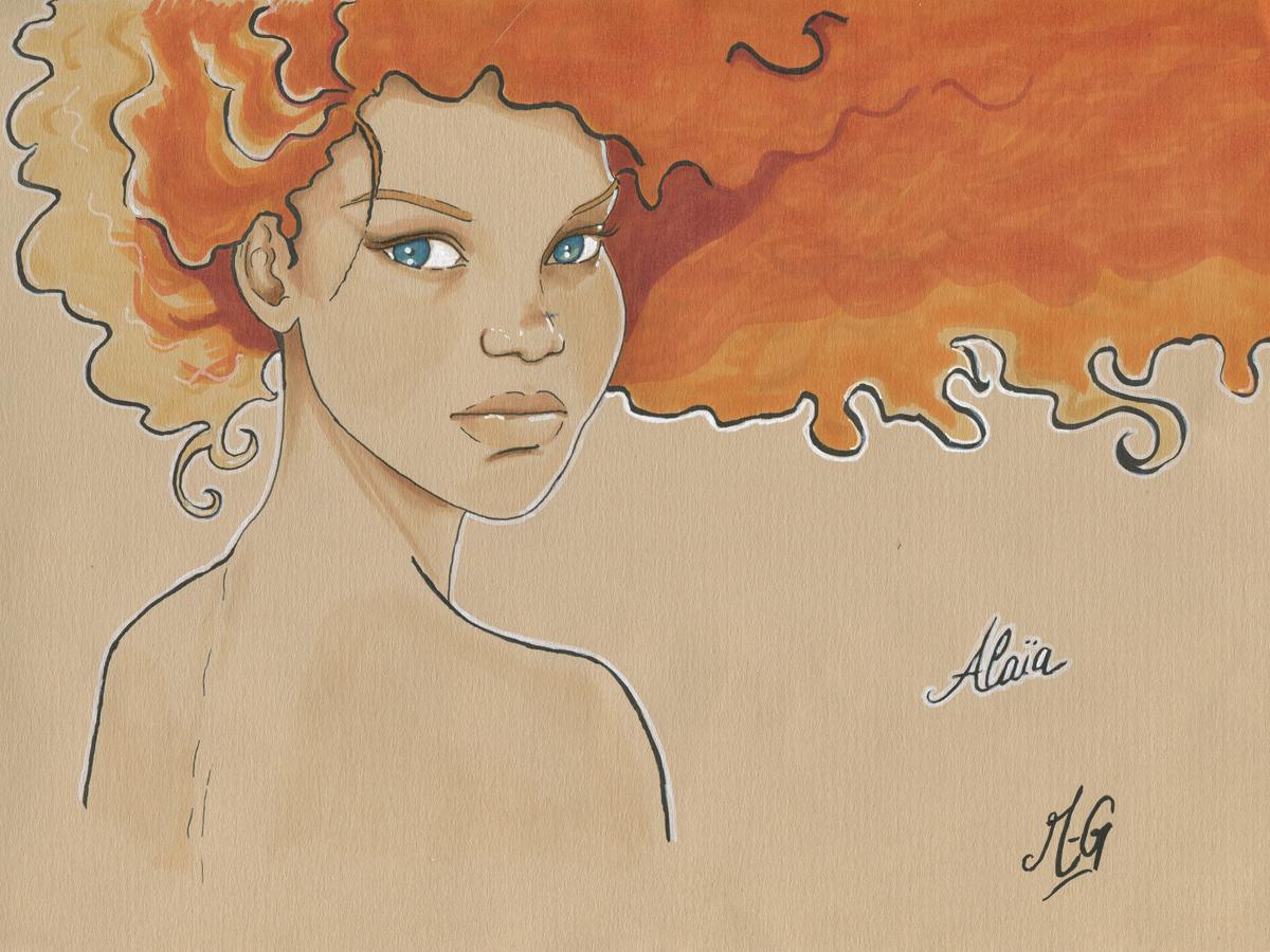 Un portrait d'Alaia enfant