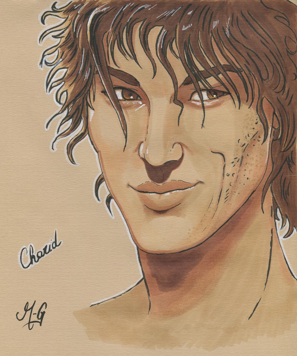 Un portrait de Charid, le meilleur ami d'Alaia
