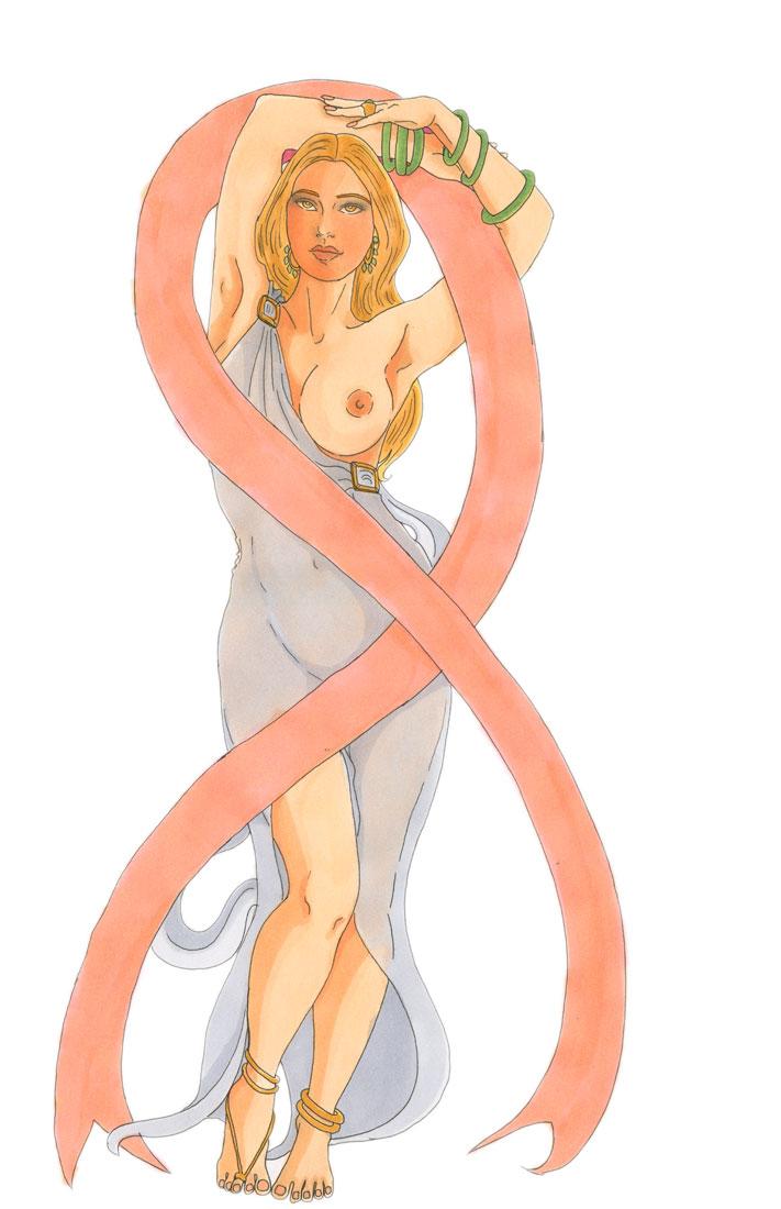 - Le temple d'Astarté soutient la prévention du cancer du sein -
