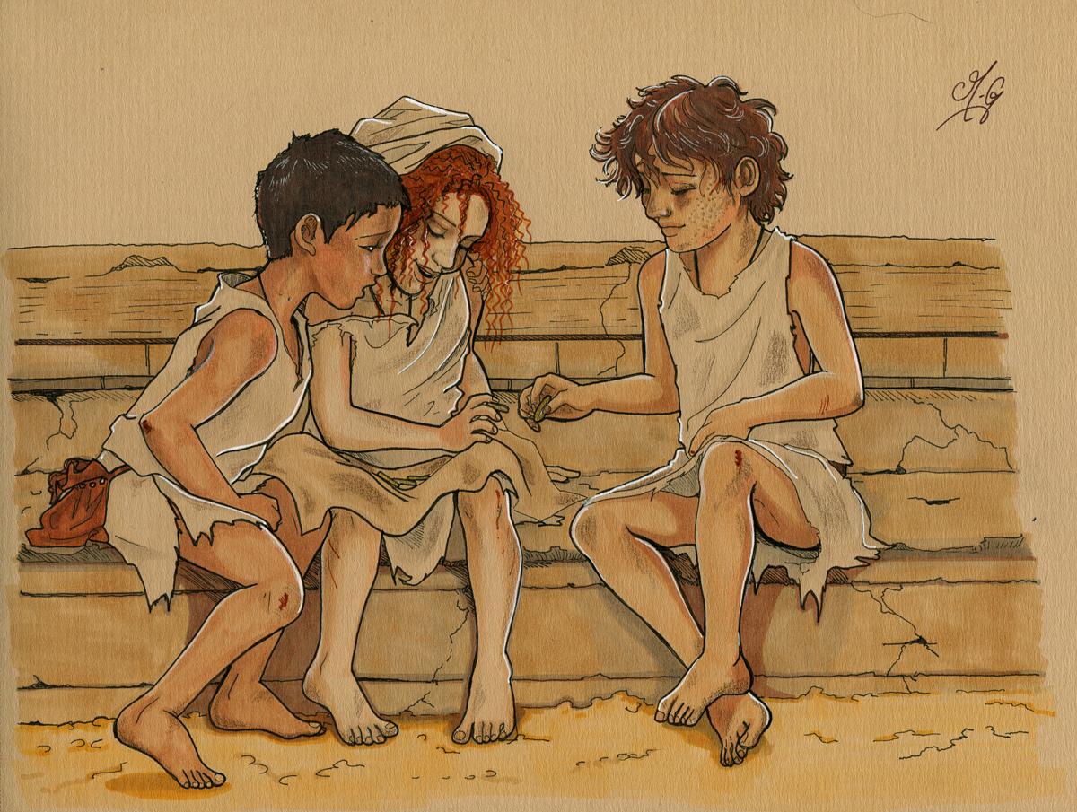 De gauche à droite: Senon, Alaia et Charid.